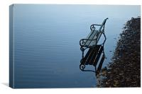 bench on water, Canvas Print