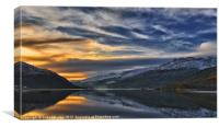 Sunset On Loch Long, Canvas Print