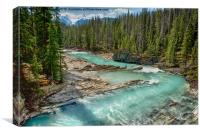 Kicking Horse River, Canvas Print