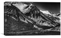 Snow Mountains Alaska, Canvas Print