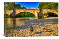 Pooley Bridge, Canvas Print