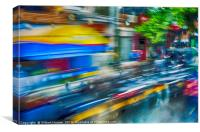 Busy Traffic in Kandy, Canvas Print