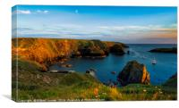 The Mullion Cove Sunset, Canvas Print