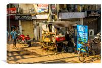A back Street in India, Canvas Print