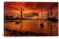 Portsmouth Harbour, Canvas Print