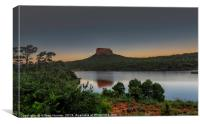 Sunset on Entabeni Rock, Canvas Print