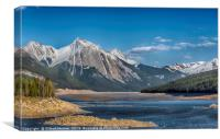 Canada Rocky Mountain, Canvas Print