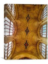 Bath Cathedral's Ceiling, Canvas Print