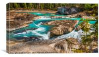 The Kicking Horse River, Canvas Print