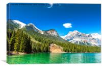 The Emerald Lake, Canvas Print