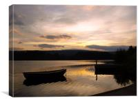 Boat on Loch Shin, Canvas Print