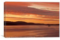 Bute Ferry at Sunset, Canvas Print
