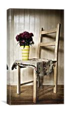 Chair and Flowers, Canvas Print
