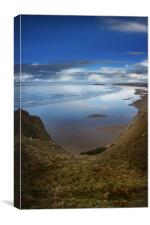 Rhossili Bay, Gower Peninsula,Wales, Canvas Print