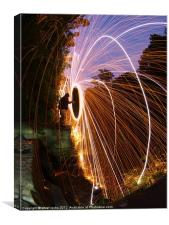8mm spin, Canvas Print