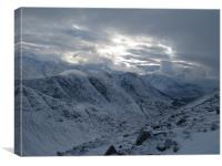 View from Buachaille Etive Beag, Canvas Print