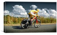 CARLOS SASTRE, TOUR DE FRANCE CHAMPION, Canvas Print