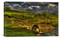 Glen Finglas in evening light, Canvas Print
