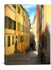 down to the shops, Canvas Print