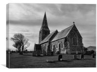 The Parish Church of All Saints | B&W, Canvas Print