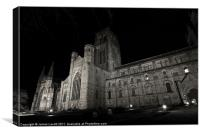 Durham Cathedral At Night, Canvas Print