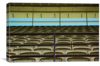 Melbourne Cricket Club Seating, Canvas Print