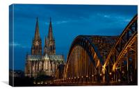 Cologne Cathedral and Bridge, Canvas Print