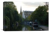 Regents canal on a summers evening, Canvas Print