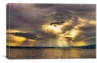 Beauly Firth Lightshow, Canvas Print