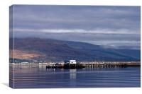 Fort William Pier, Canvas Print