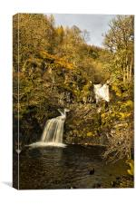 Eas Chia-aig Waterfall, Canvas Print
