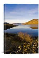 Loch Glascarnoch Dam, Canvas Print