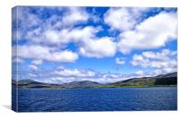 Ferry from Harris to Berneray, Canvas Print