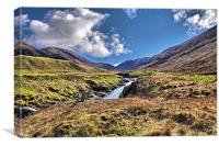 Glen Roy Scotland, Canvas Print