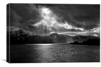 Storm Over Loch Duich, Canvas Print