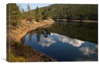 Loch Benevean, Glen Affric, Canvas Print