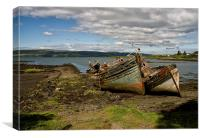 Old Boats Salen, Isle of Mull, Canvas Print