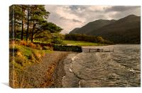 Storm Over Crummock Water, Canvas Print