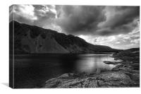 Storm Over Wastwater. Cumbria Floods Appeal, Canvas Print