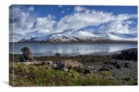 Loch na Keal and Ben More on Mull, Canvas Print