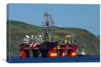 Oil Rig in Cromarty Firth, Canvas Print
