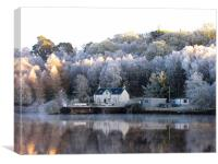 Frosty Weather near Loch Ness, Canvas Print