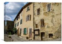 Tenement Block - French Style, Canvas Print