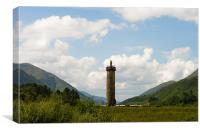 The Glenfinnan Monument, Canvas Print