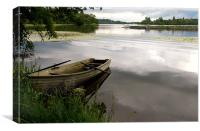 Rowboat on Lake of Menteith, Canvas Print