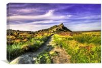 A Walk To The Roaches., Canvas Print