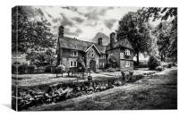 The Cottage B&W, Canvas Print