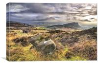 View Of The Peak District., Canvas Print