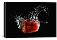 Red Pepper Slash, Canvas Print