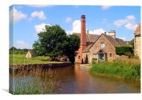 Mill at Lower Slaughter, Canvas Print